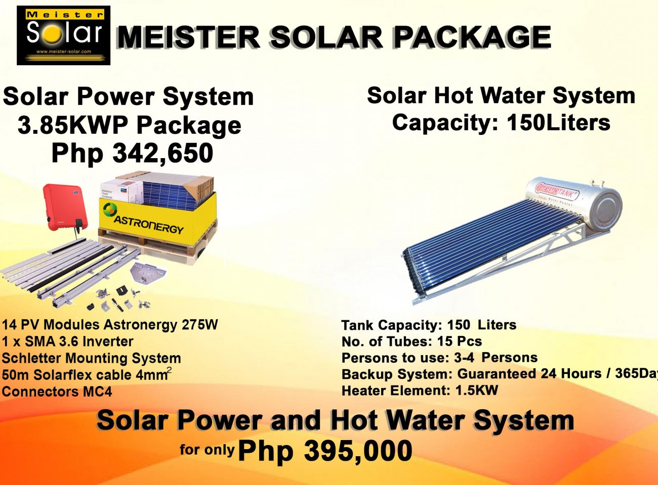 solar power and hotwater system